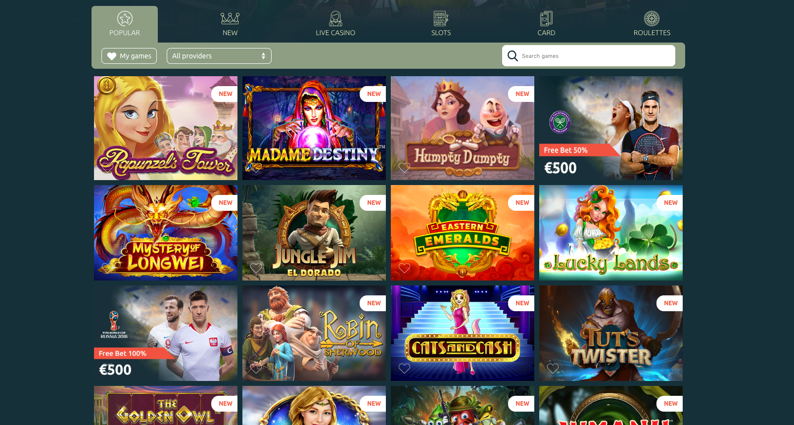 Some of the hottest games at Casinia Casino