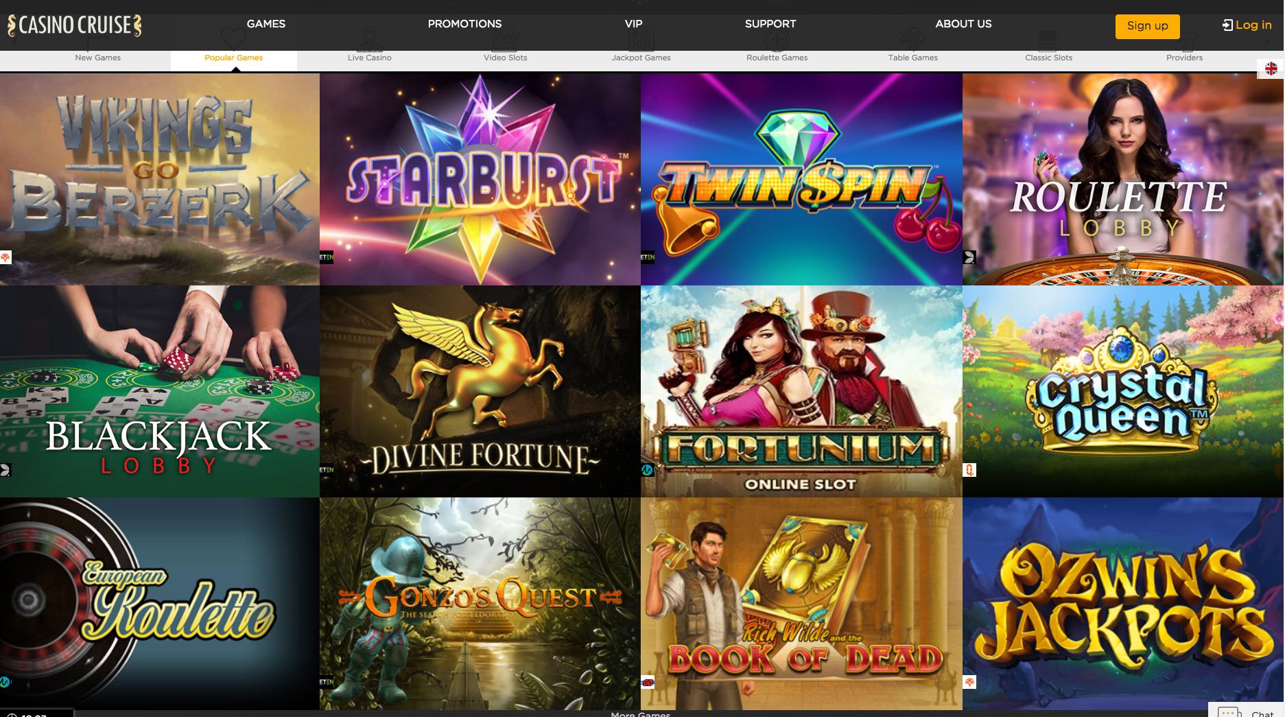Casino Cruise Casino games options