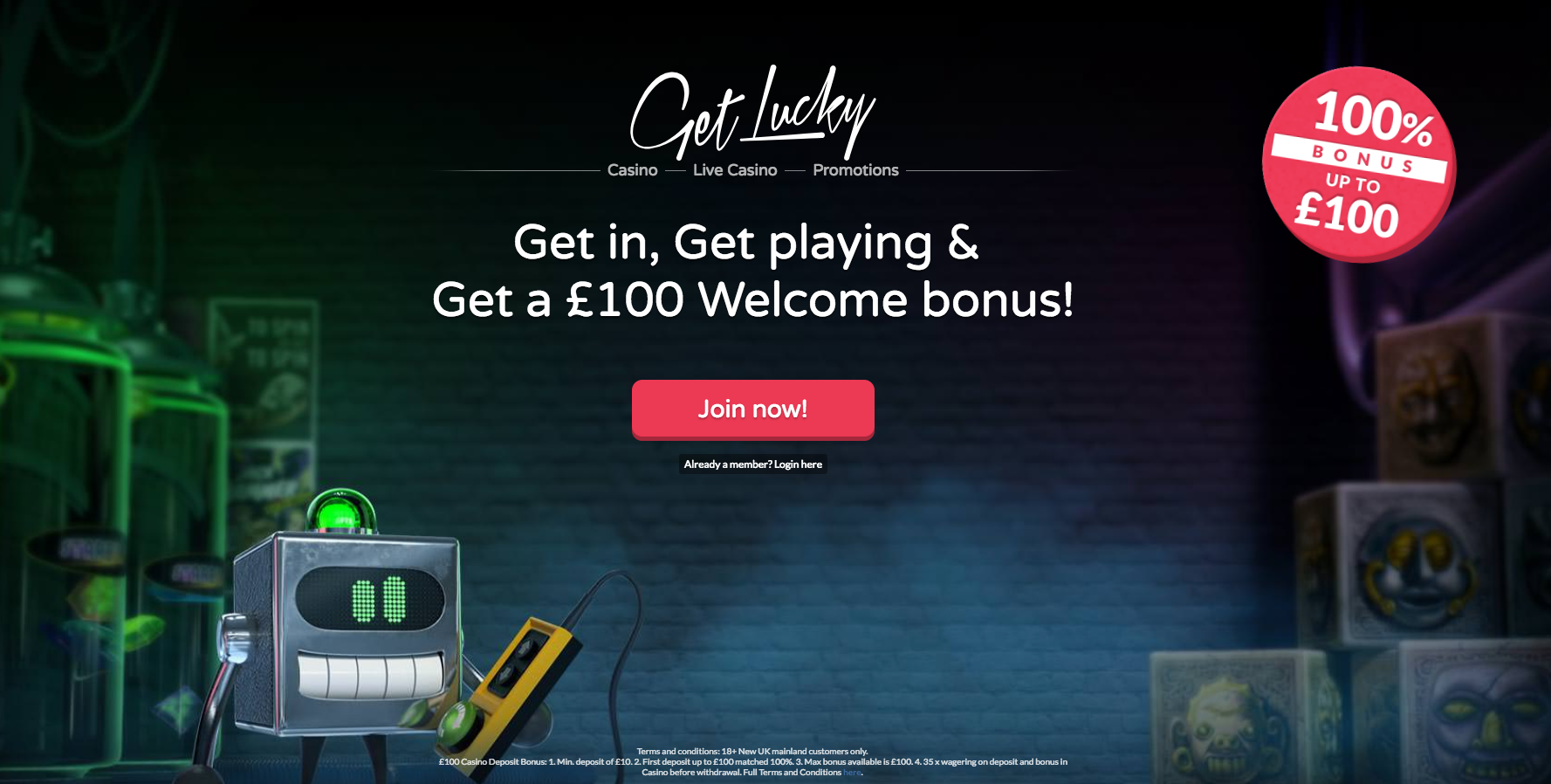 Get Lucky Casino Welcome Bonus