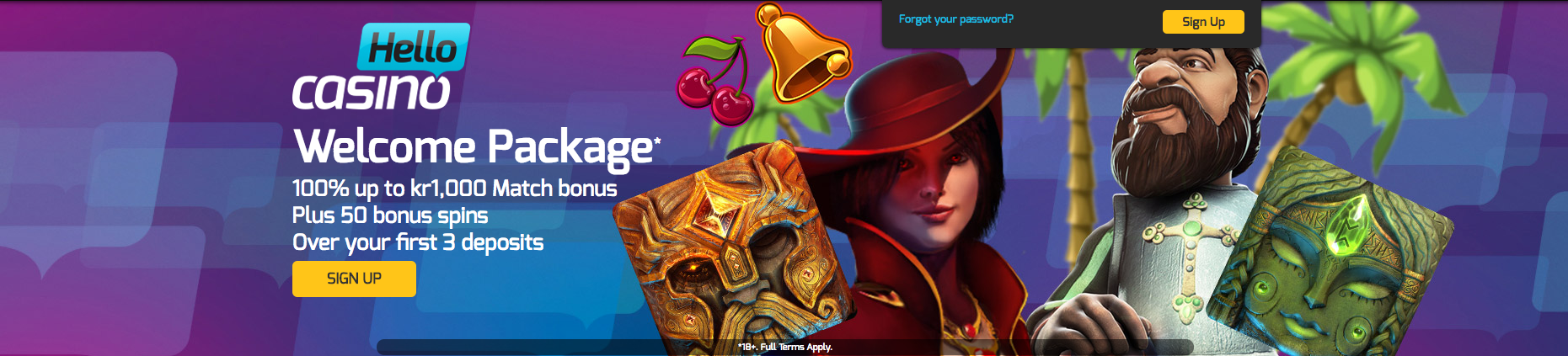 Warm welcoming offers at Hello Casino