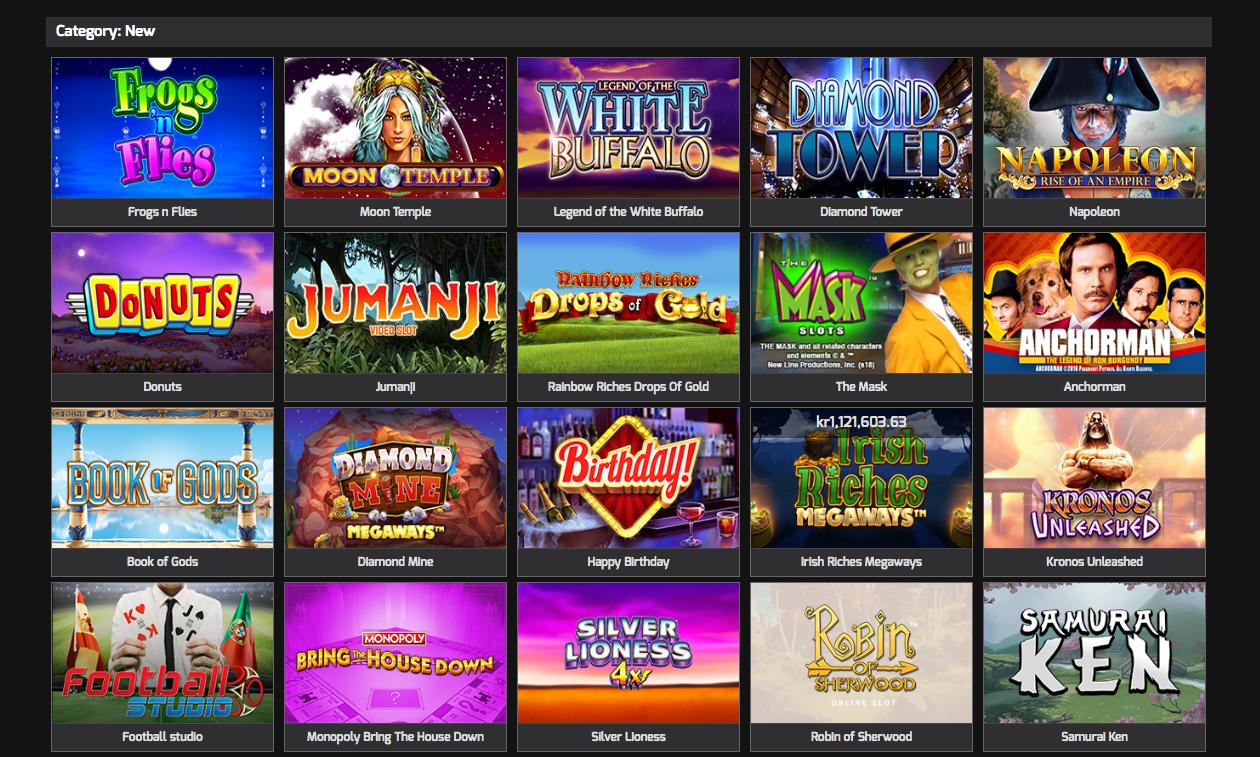 A screenshot of popular games at Hello Casino