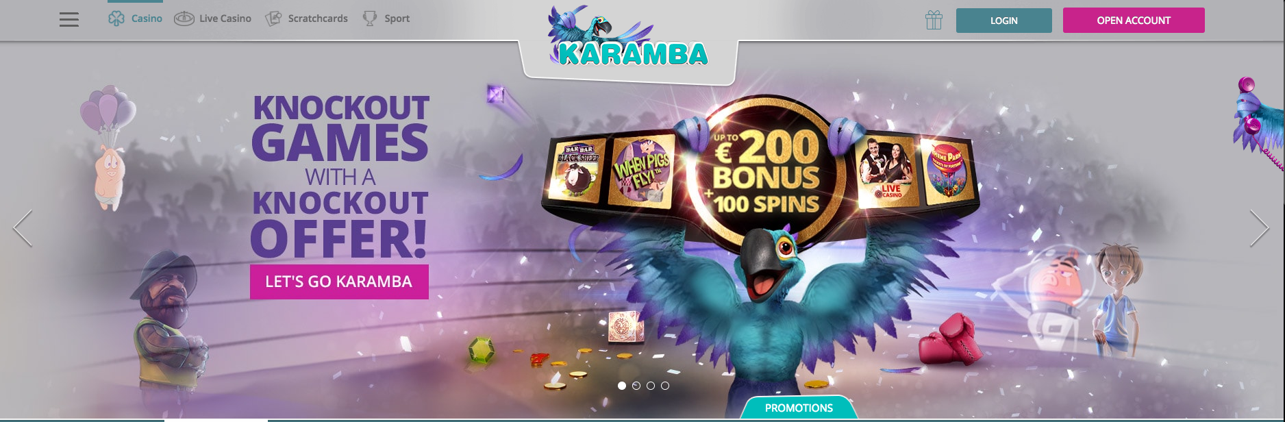 An image of cool welcoming offers at Karamba Casino