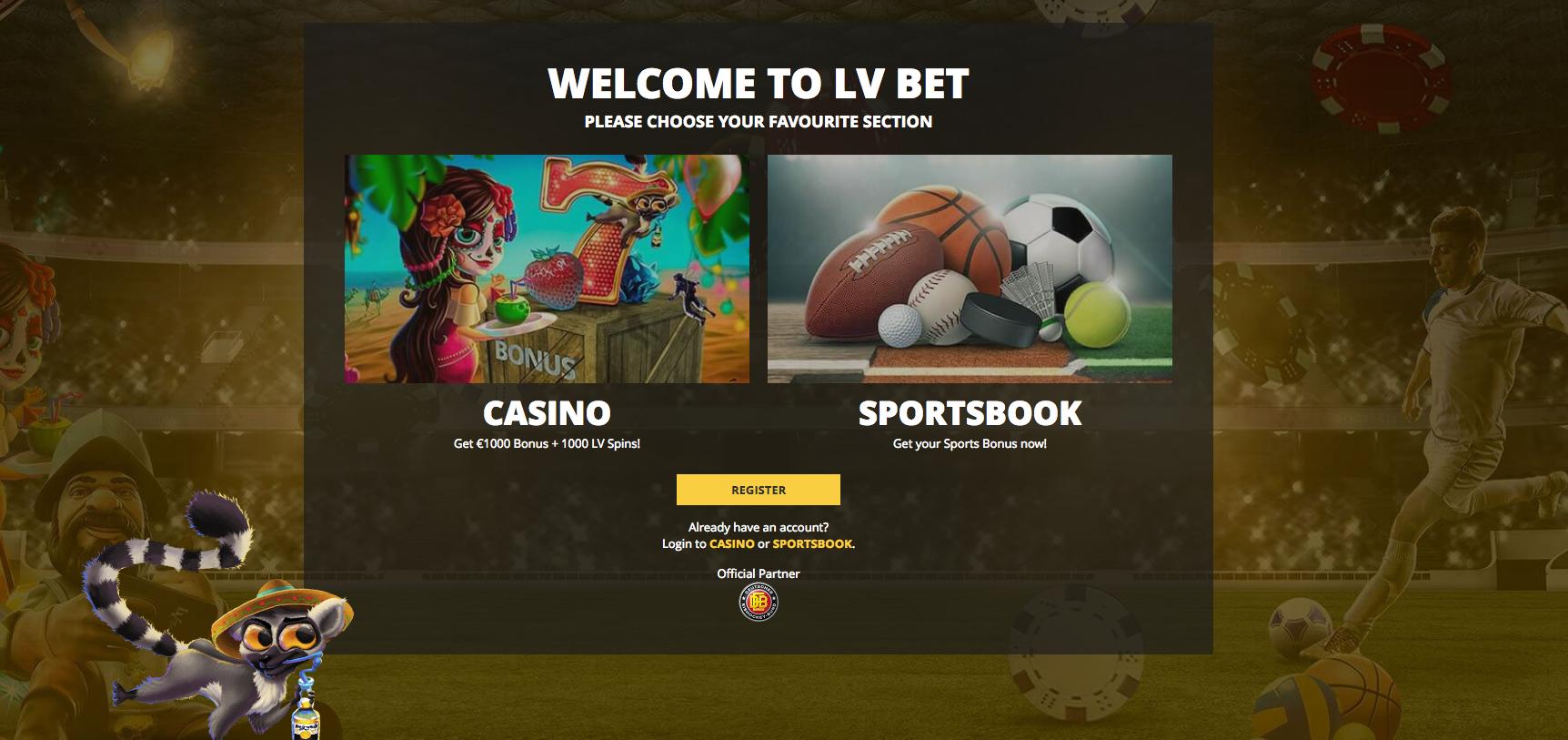A Screenshot of Lvbet review casino welcoming package