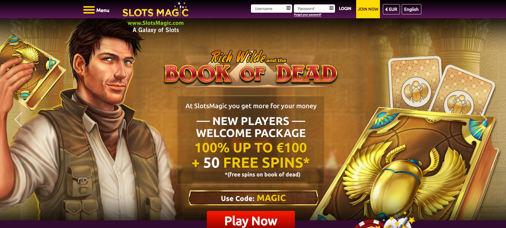 The Slotsmagic Casino Welcome Offer.
