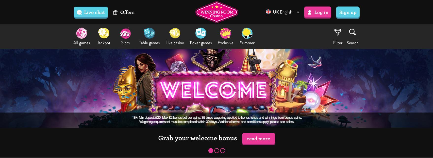 WinningRoom Casino Welcome Bonus