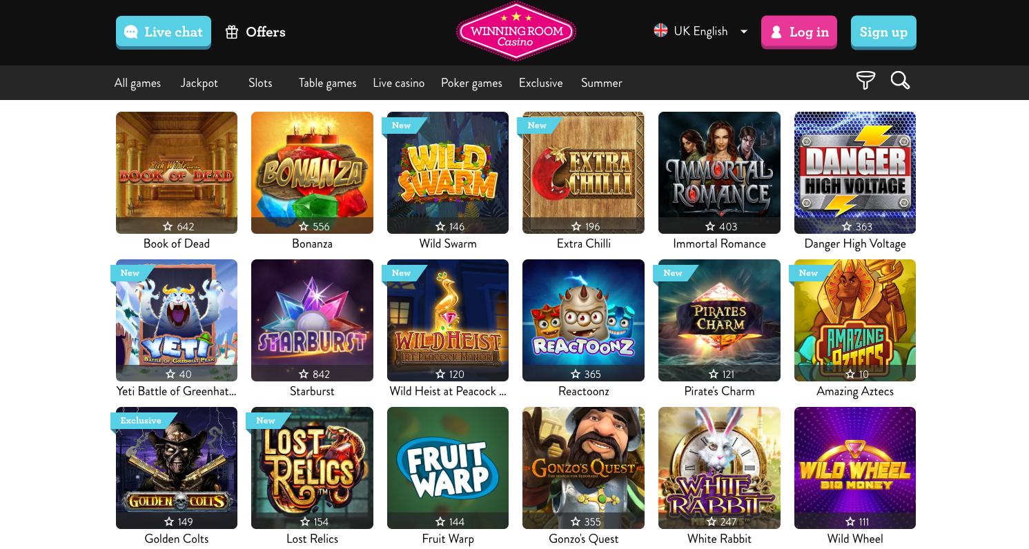 WinningRoom Casino Slots Foyer