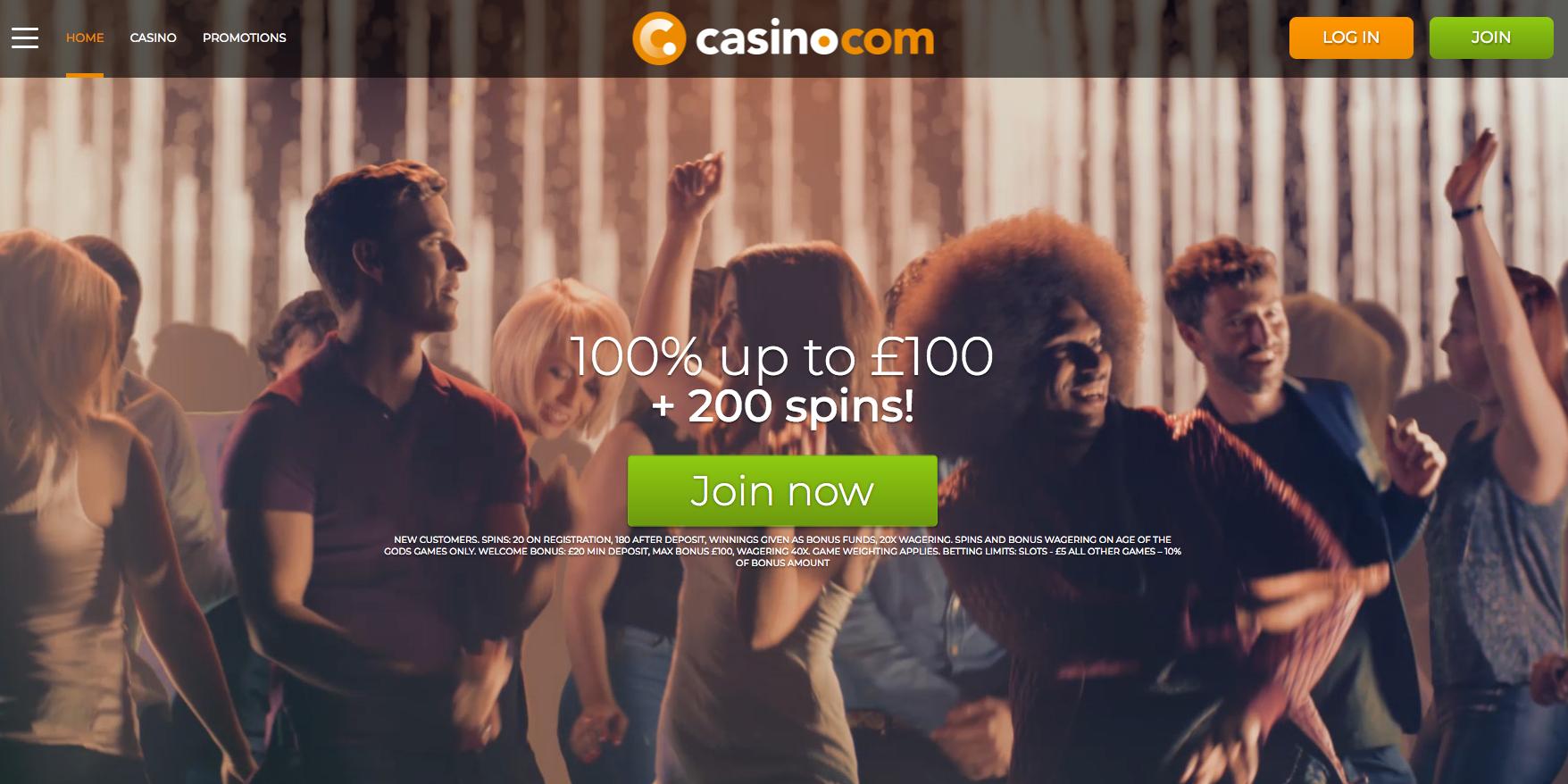 Casino.com Casino Bonuses