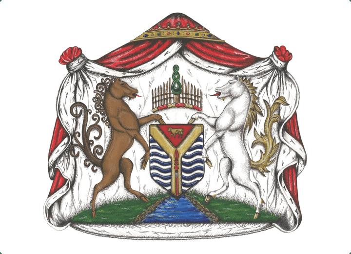 Waikato Heraldry - Gouache Painting