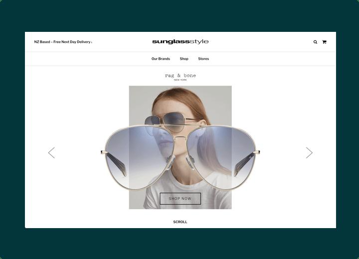 Sunglass Style Website Design
