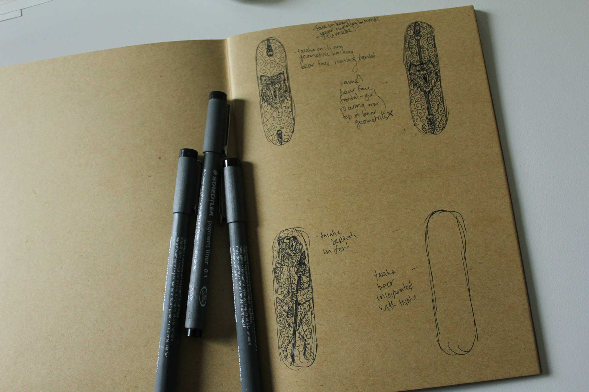 Girl Skateboards Initial Sketches