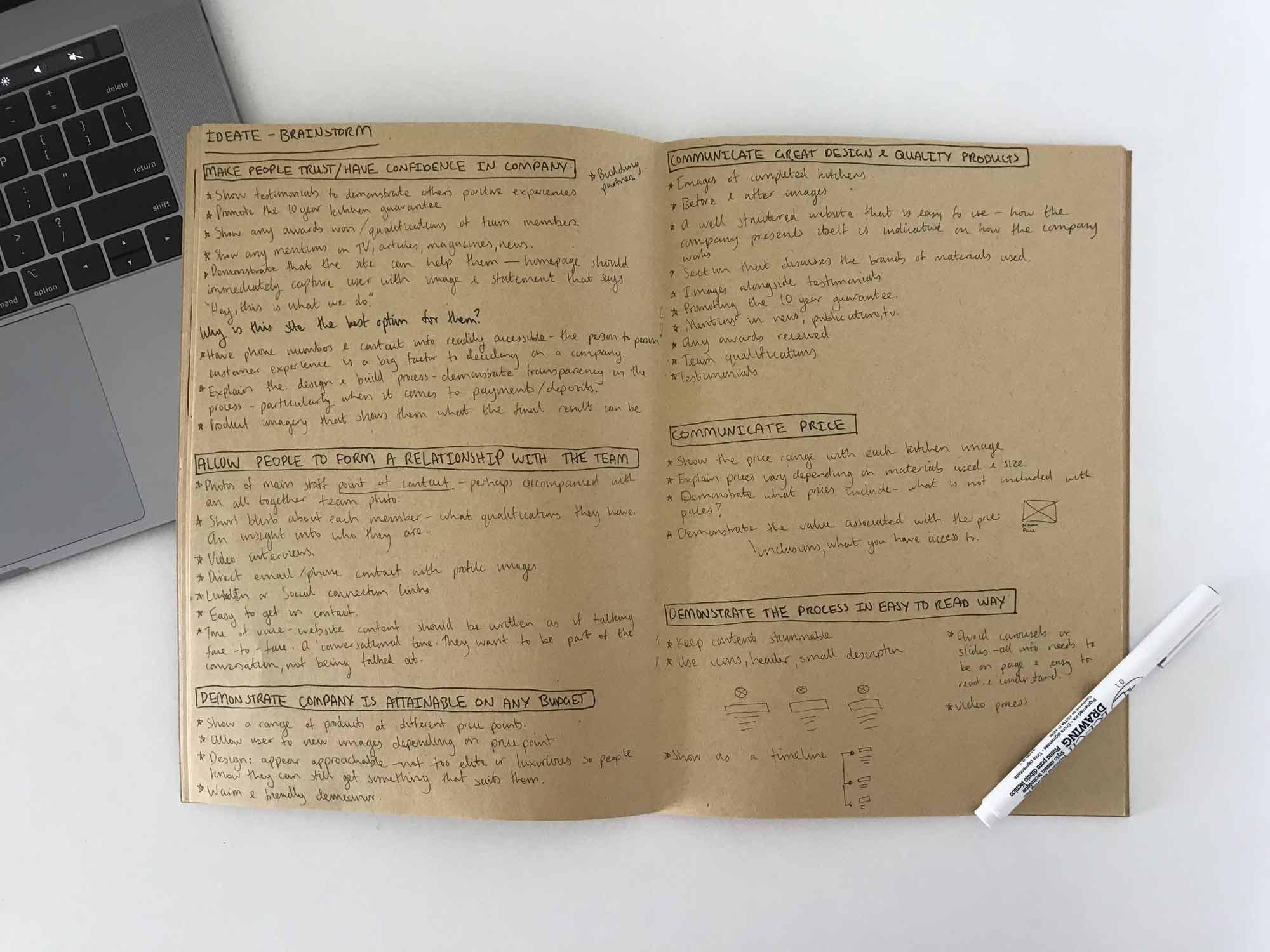 Mastercraft Kitchens brainstorm