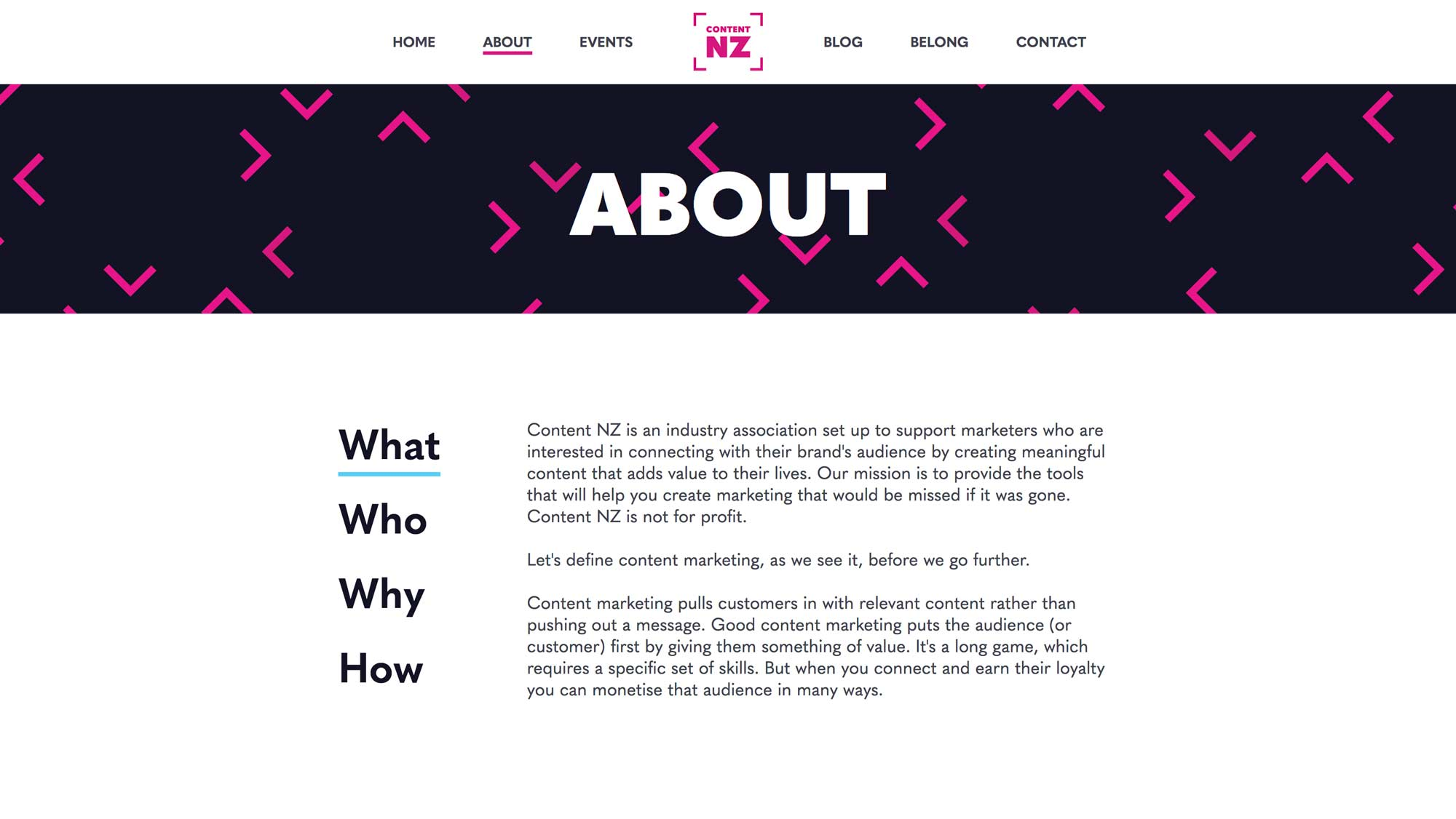 Content NZ - about page design