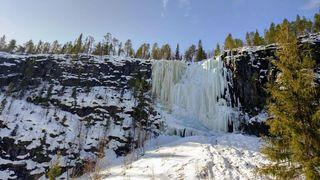 Frozen waterfalls