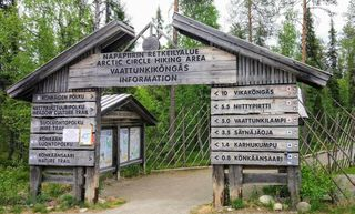 Arctic Circle Hiking Area Entrance