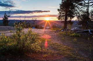 Sunset in Rovaniemi summer
