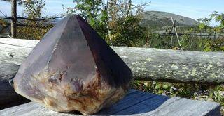 Big amethyst from Luosto