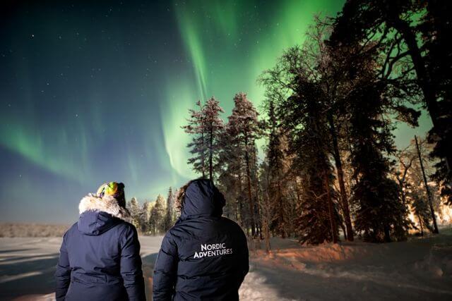 Aurora borealis, Northern lights Rovaniemi