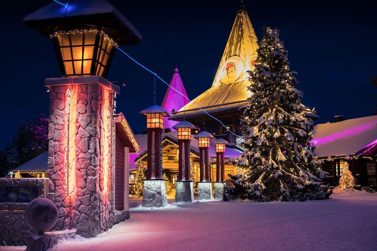 Santa Claus office on the Arctic circle