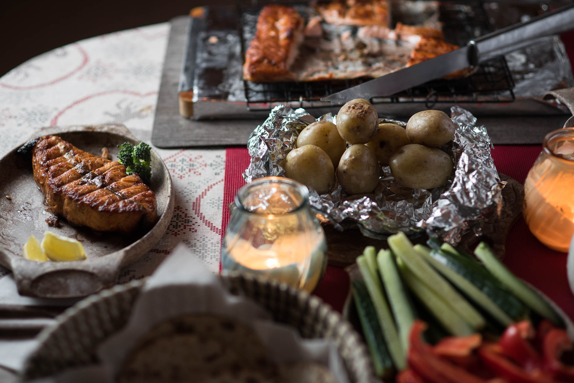Traditional Lappish dinner