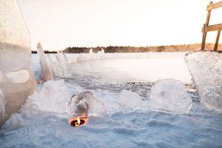 Frozen private lake