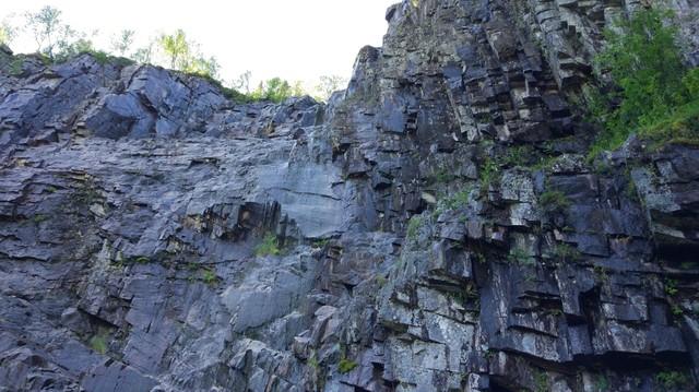 Rocks at bottom of canyon