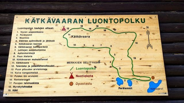 Kätkävaara nature trail map