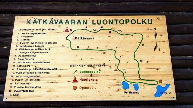 Kätkävaara nature trail map