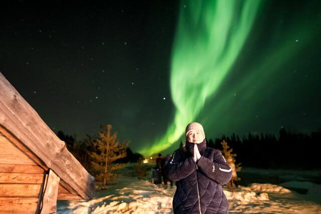 Everyone will tell you that seeing the bright frolicking Northern Lights is a breathtaking experience!