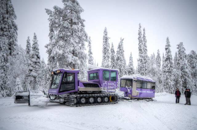 Luosto winter train and Amethyst mine adventure
