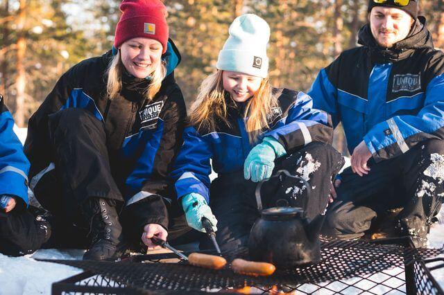 Snowmobile family safari
