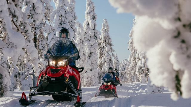 This tour will give you a chance to ride your own snowmobile in the Arctic Circle area.