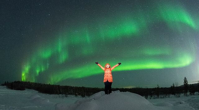 Private Northern lights hunting expedition