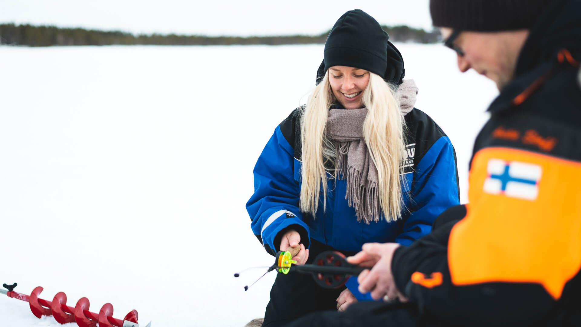 Join this tour to experience a wonderful afternoon combining snowmobiling and ice fishing. You will start by driving away from the busiest tracks near Santa Claus Village, led by your guide.