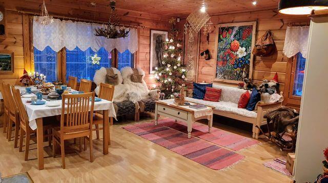 Traditional Finnish living room