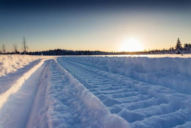 Snowmobile route