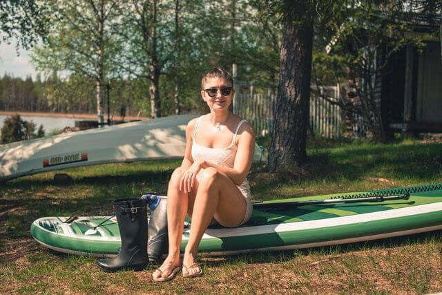 Preparing for paddling