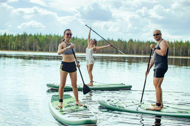Sup Board in Rovaniemi, Finland, no speacial skills required
