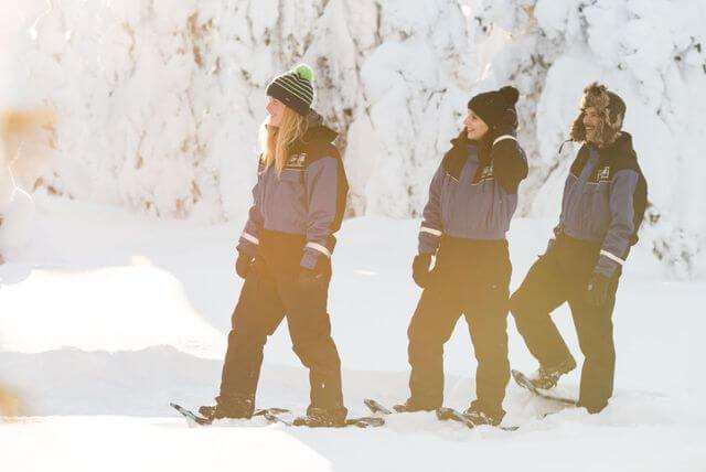 Snowshoe hiking in Rovaniemi