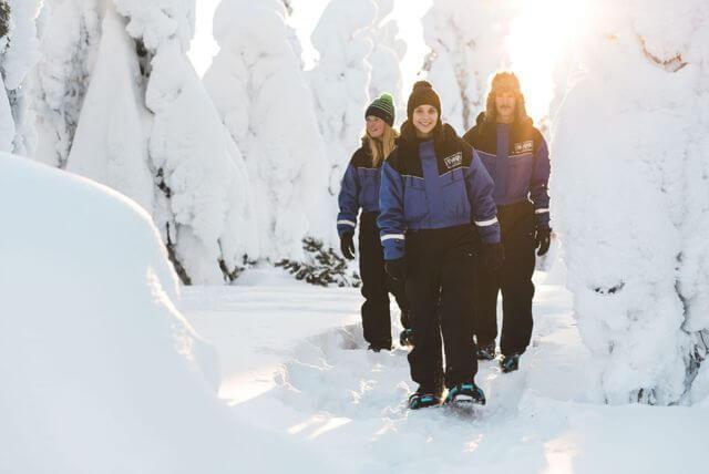 Snowshoeing at Arctic Circle
