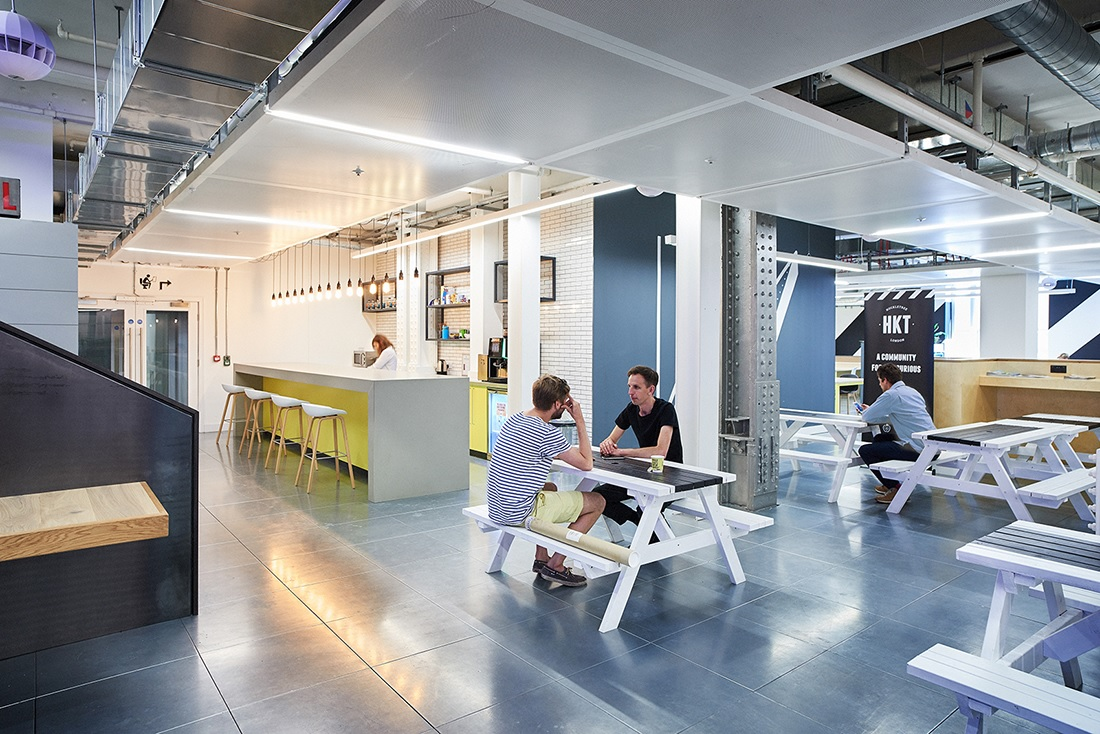 Huckletree's flagship coworking venue in Finsbury Square