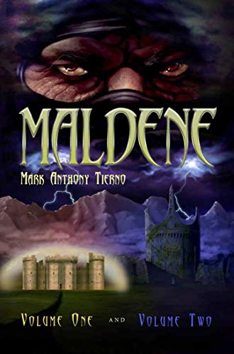 Book cover of Maldene by Mark Tierno showing castle fortifications and warrior