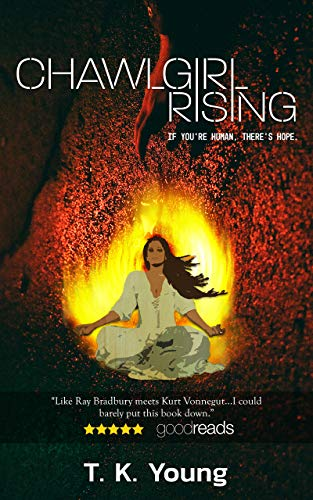 Chawlgirl Rising Cover showing girl meditating amidst a fire