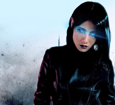 Behind Blue Eyes book cover cyberpunk thriller