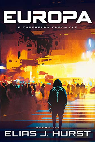Europa Cyberpunk Chronicle by Hurst Cover Showing City at night