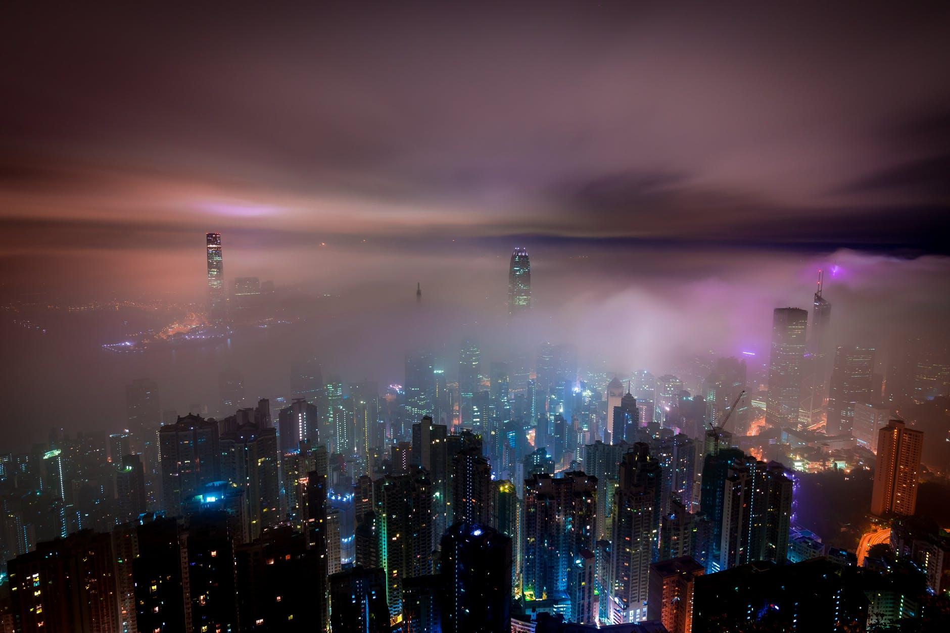Night City dystopian atmosphere
