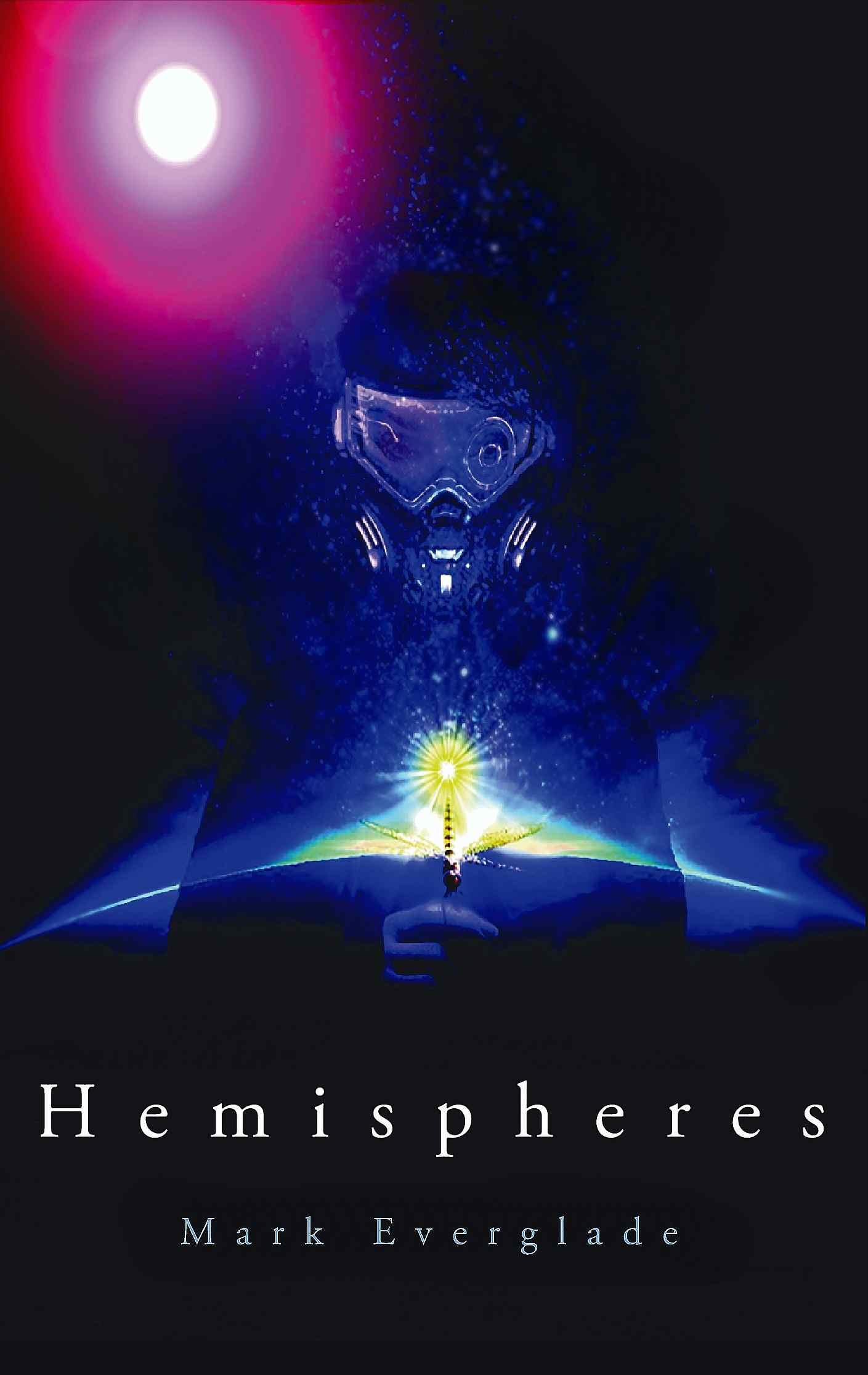 hemispheres cyberpunk book cover by mark everglade