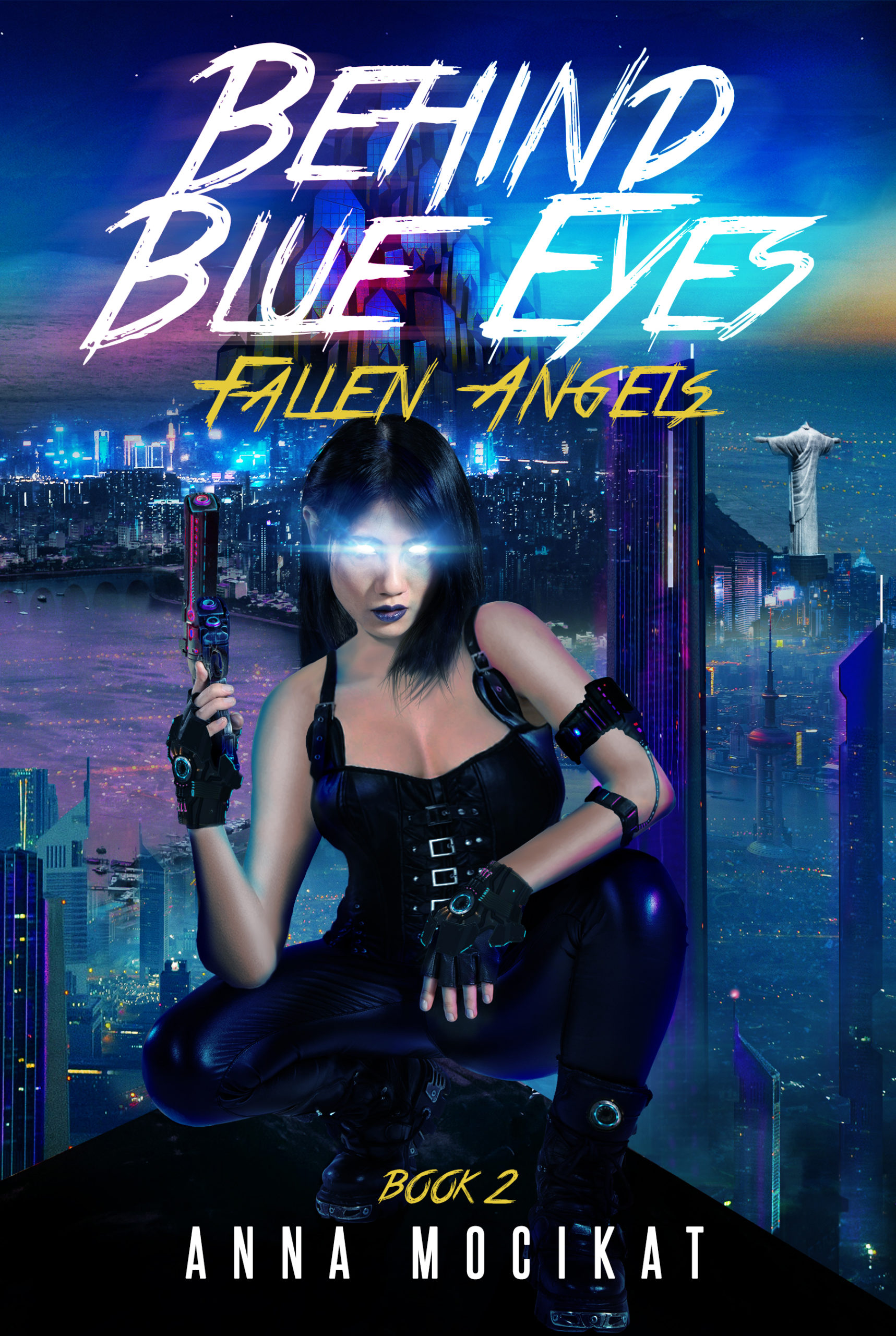 behind blue eyes fallen angel book review cover android woman