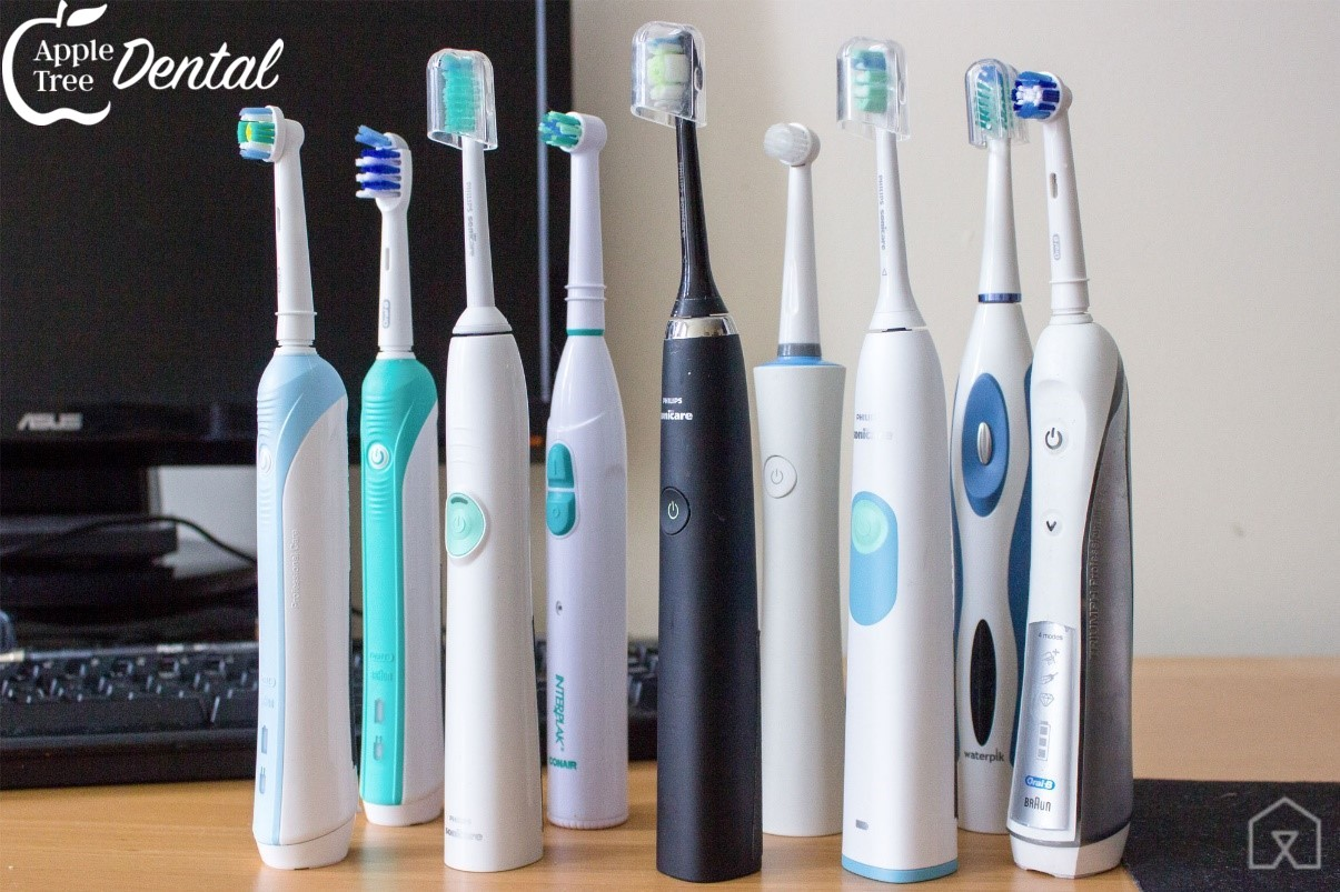Several different electric toothbrushes available.