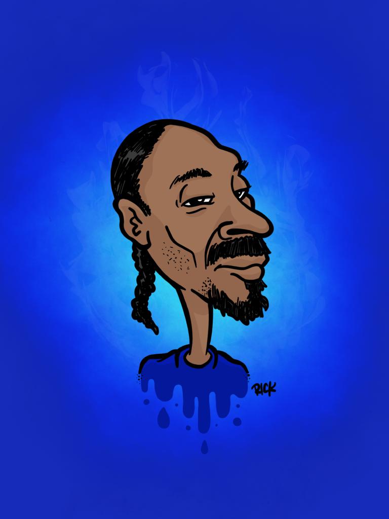 Snoop Doggy Dogg - cartoon, illustration