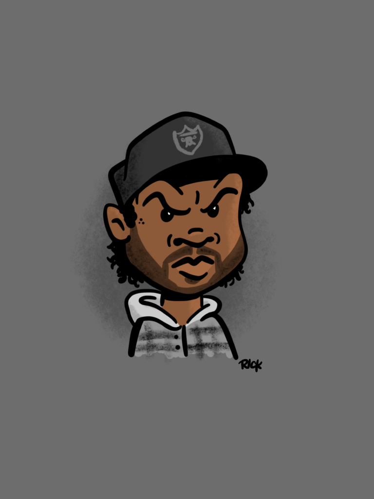 Ice Cube - cartoon, illustration